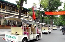 New routes for Hanoi electric car tours