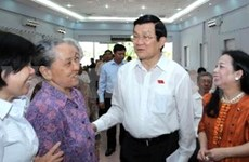 President clarifies key national issues in HCM City