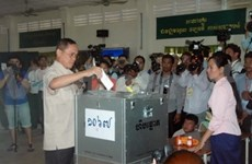 Cambodian election votes announced