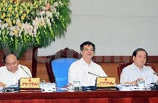 Cabinet members discuss law building work