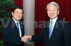 Leaders receive new JICA President