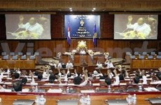 Cambodia parliament protests CNRP stance