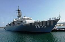Japanese naval ships visit in Myanmar
