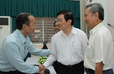 President meets with HCM City voters