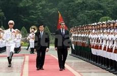 President Sang welcomes Bulgarian counterpart to Hanoi