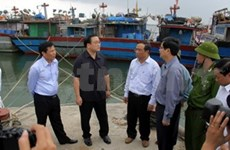 Deputy PMs inspect preparations for typhoon Haiyan