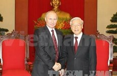 Leaders welcome Russian President