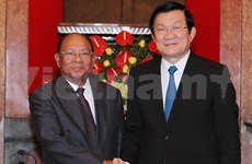 President meets Cambodian legislative leader