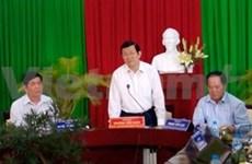 President inspects Tran Dai Nghia memorial site