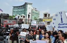 Thai minister rejects proposed talks with protest leader