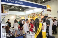 Vietnamese companies display products in Singapore