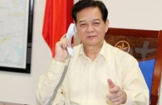 Vietnamese, Malaysian PMs discuss missing plane search