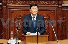 President Sang addresses Japanese parliamentarians