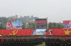 Rehearsal for Dien Bien Phu victory celebrations held