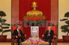 Party chief meets Mexican PT national coordinator