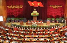 Party Central Committee adopts resolution on cultural, human development
