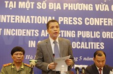 Int'l press conference on recent social disorder held