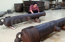 Hundred-year-old cannons unearthed in Phu Yen