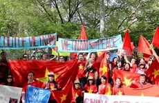 Rallies in US protest against China's illegal act in East Sea