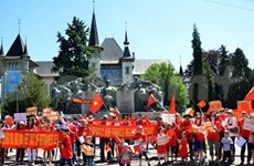 More protest in Switzerland against China's illegal act