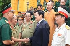 Nation always remembers soldiers' merit: President