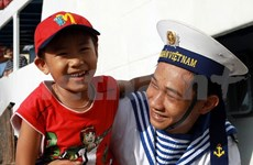 Vietnamese navy's first victory on photo display