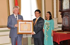 Vietnam awards Friendship Orders to Belgian diplomats