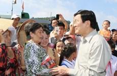 President tours Kien Giang's islands