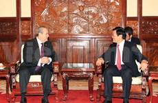 President Sang welcomes new ambassadors
