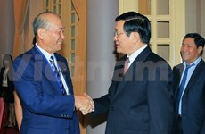 President Truong Tan Sang welcomes Japanese guest