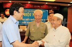 President meets voters in Ho Chi Minh City