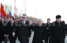 Party leader begins official visit to Russia