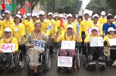 Charity walk held to support persons with disabilities
