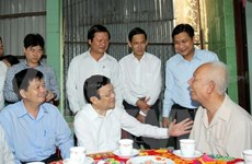 President visits successful rural commune in Long An