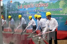 National grid comes to two island communes in Quang Ninh