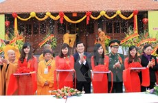 President attends Phat Tich Truc Lam Ban Gioc pagoda inauguration