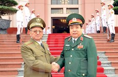 Vietnamese, Cuban Defence Ministers hold talks