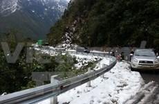 Snow falls in Sa Pa town