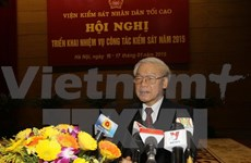 Party leader urges procuracy sector to be a pillar of justice