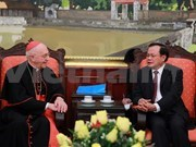 Hanoi's Party leader receives Vatican Cardinal