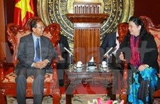 NA Vice Chairwoman welcomes Lao Justice Minister