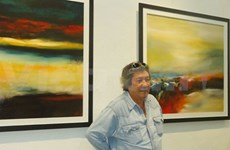 French-Vietnamese artist's abstracts on display in HCM City