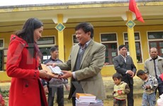 Gifts presented to the poor on Tet festival