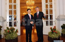 Singaporean PM receives Chinese politburo member