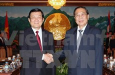 State President meets with top Lao leader