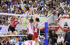 DPRK team claims victory at volleyball tournament