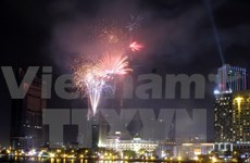 Fireworks display in HCM City on Reunification Day