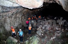 Volcanic caves open to tourists