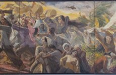 Veteran artist's war paintings displayed