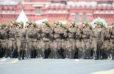 Greeting messages to Russian leaders on victory day